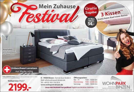 Wohnpark Binzen - Mein Zuhause Festival mit vielen gratis Extras