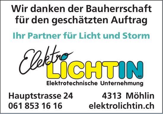 Elektro Lichtin AG, Möhlin - Wir danken der Bauherrschaft für den geschätzten Auftrag