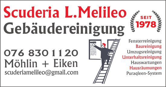 Scuderia L. Melileo, Möhlin + Eiken - Gebäudereinigung