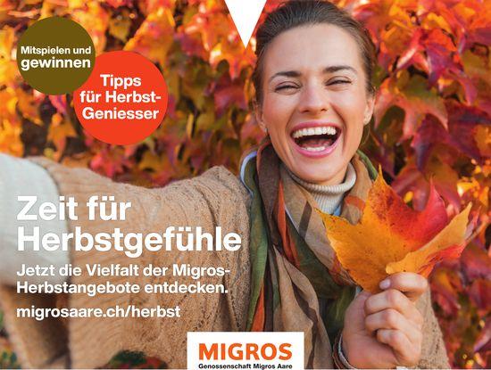 Genossenschaft Migros Aare - Zeit für Herbstgefühle