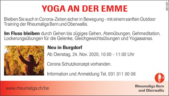 Rheumaliga, Bern - YOGA AN DER EMME