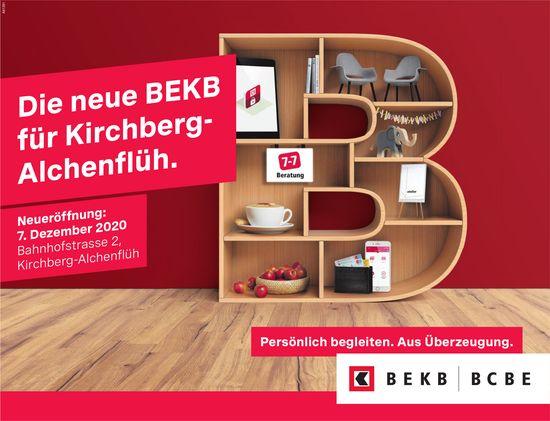 Die neue BEKB für Kirchberg- Alchenflüh. Neueröffnung, 7. Dezember, Kirchberg-Alchenflüh