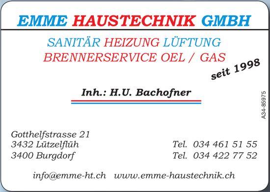 Emme Haustechnik GmbH, Burgdorf - Sanitär, Heizung,  Lüftung usw.