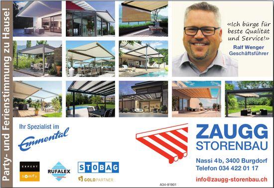 ZAUGG Storenbau, Burgdorf - Party- und Ferienstimmung zu Hause!