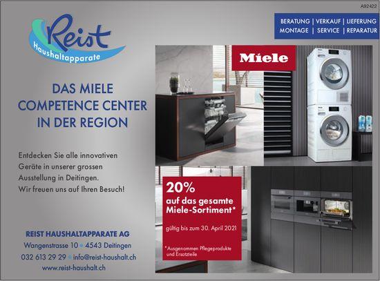 REIST HAUSHALTAPPARATE AG, Deitingen - Das Miele Competence Center in der Region