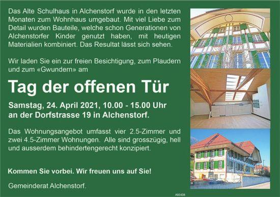 Gemeinderat Alchenstorf - Tag der offenen Tür zur freien Besichtigung das Wohnungsangebot, 24. April