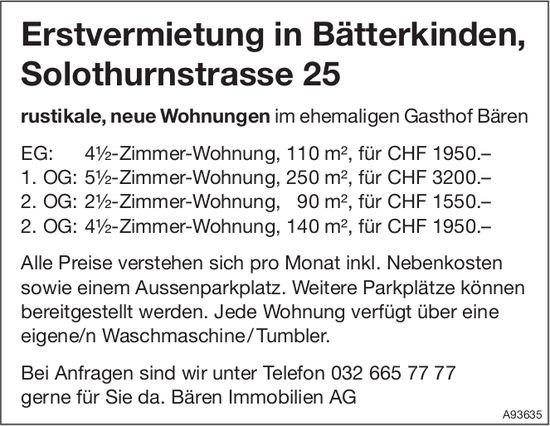 Erstvermietung in Bätterkinden, Solothurnstrasse 25, Bätterkinden