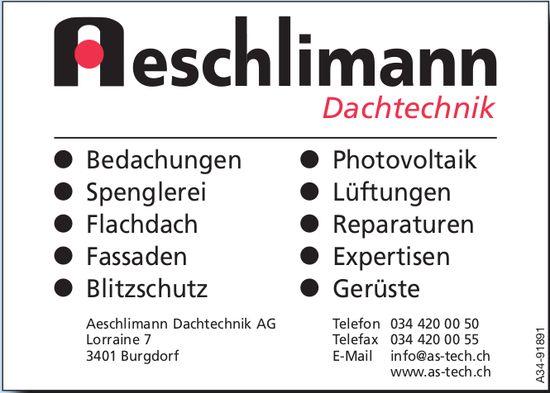 Aeschlimann Dachtechnik AG, Burgdorf - Bedachungen, Spenglerei, Flachdach usw.