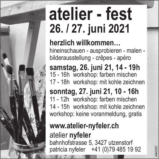 Atelier Nyfeler - Atelier - Fest, 26. + 27. Juni, Utzenstorf