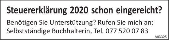 Steuererklärung 2020 schon eingereicht?