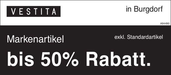 Vestita, Burgdorf - Markenartikel bis 50% Rabatt.