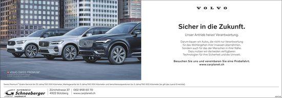 Automobile Schneeberger, Bützberg - Volvo: Sicher in die Zukunft.