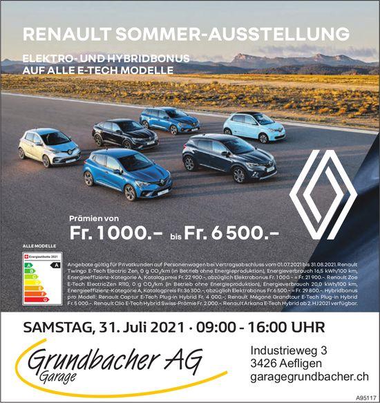 Garage Grundbacher AG - Renault Sommer-Ausstellung, 31. August, Aefligen
