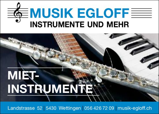 Mietinstrumente, Musik Egloff