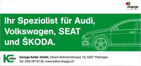 Garage Keller GmbH, Mellingen - Ihr Spezialist für Audi, Volkswagen, SEAT und ŠKODA.