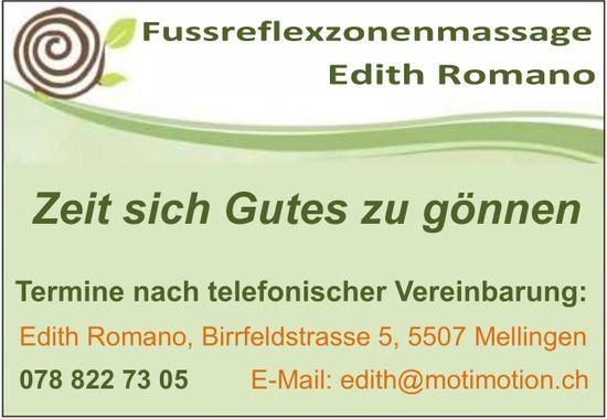 Fussreflexzonenmassage Edith Romano - Zeit sich Gutes zu gönnen