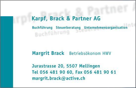 Karpf, Brack & Partner AG - Margrit Brack, Betriebsökonom HWV