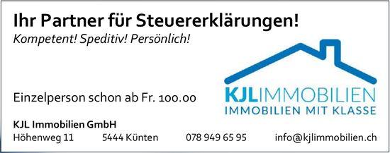 KJL Immobilien GmbH,  Künten - Ihr Partner für Steuererklärungen!