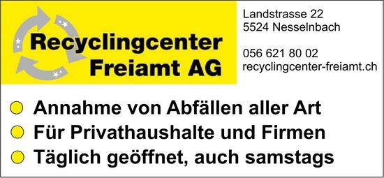 Recyclingcenter Freiamt AG - Annahme von Abfällen aller Art