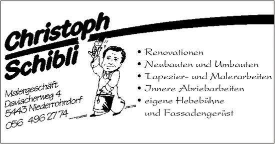Christoph Schibli, Malergeschäft, Niederrohrdorf