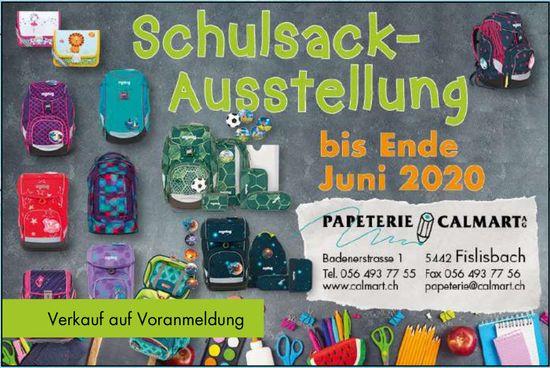 Schulsack-Ausstellung, bis 30. Juni, Papeterie Calmart AG, Fislisbach