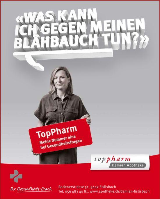 Toppharm Damian Apotheke, Fislisbach - Ihr Gesundheits-Coach.