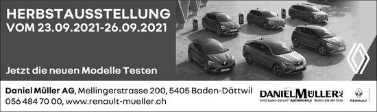 Herbstausstellung, 23. bis 26. September, Daniel Müller AG, Baden-Dättwil