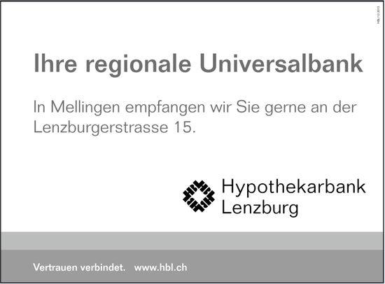 Hypothekarbank Lenzburg, Mellingen - Ihre regionale Universalbank