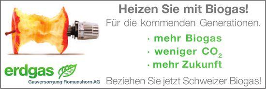 Gasversorgung Romanshorn AG, Heizen Sie mit Biogas!
