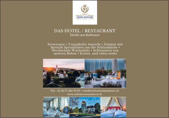 Schloss Romanshorn, Das Hotel/Restaurant/ Direkt am Bodensee