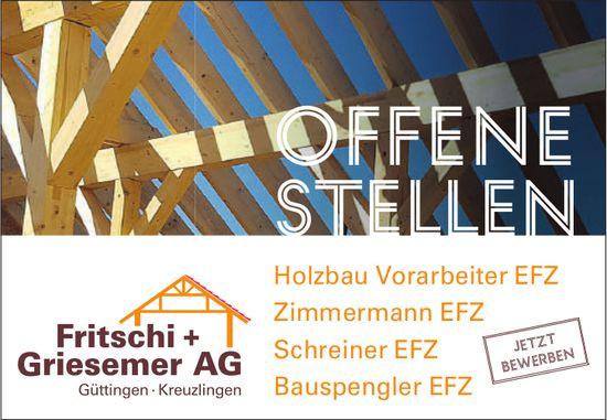 Fritschi+Griesemer AG, Güttingen - Offene Stellen