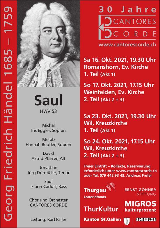 Saul, 24. Oktober, Kreuzkirche, Romanshorn