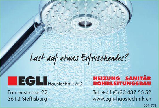 EGLI Haustechnik AG, Steffisburg - Lust auf etwas Erfrischendes?