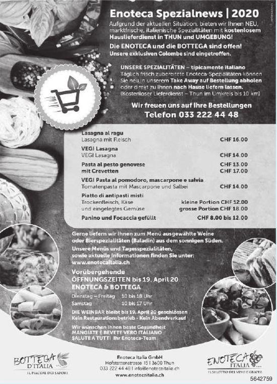 Enoteca Italia GmbH, Thun - Enoteca Spezialnews 2020