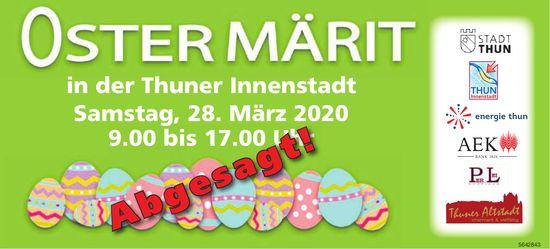OSTERMÄRIT in der Thuner Innenstadt ABGESAGT