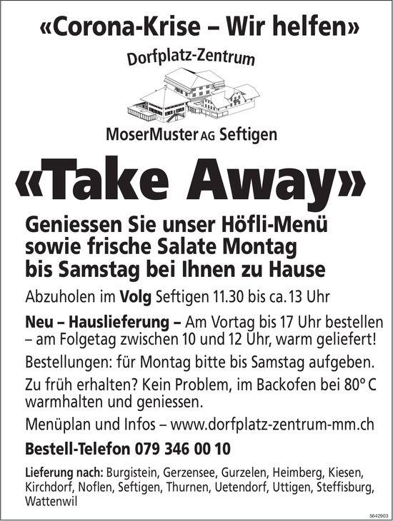 MoserMuster AG, Seftigen - «Take Away»