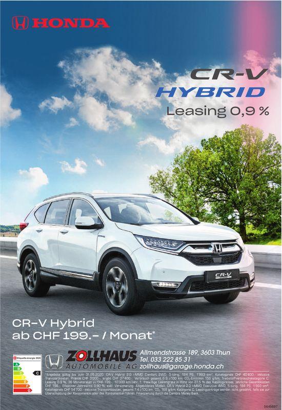 ZOLLHAUS AUTOMOBILE AG - HONDA CR-V HYBRID, Leasing 0.9%