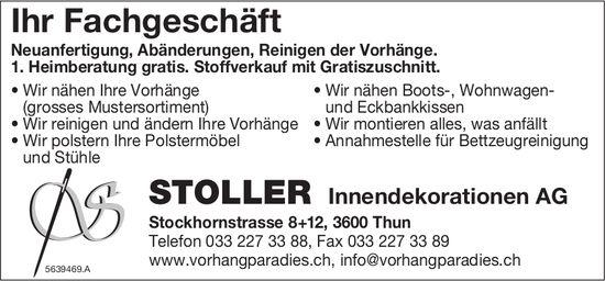 Stoller Innendekorationen AG, Thun - Ihr Fachgeschäft