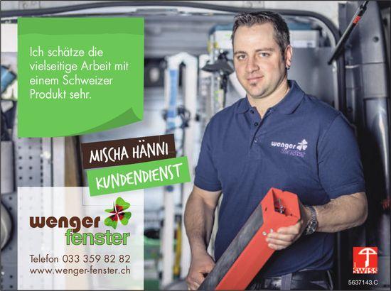 Wenger Fenster - Schätzt die vielseitige Arbeit mit einem Schweizer Produkt sehr.