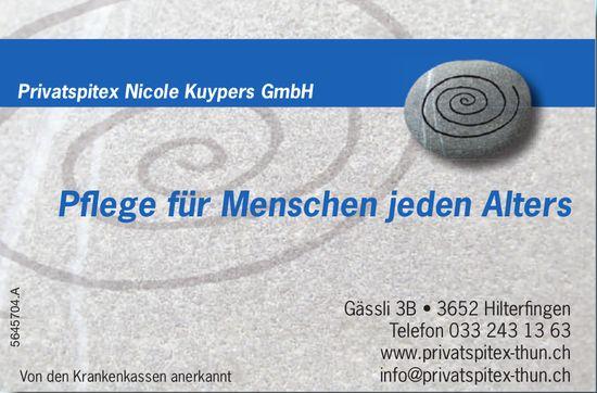 Privatspitex Nicole Kuypers Gmbh, Hilterfingen - Pflege für Menschen jeden Alters