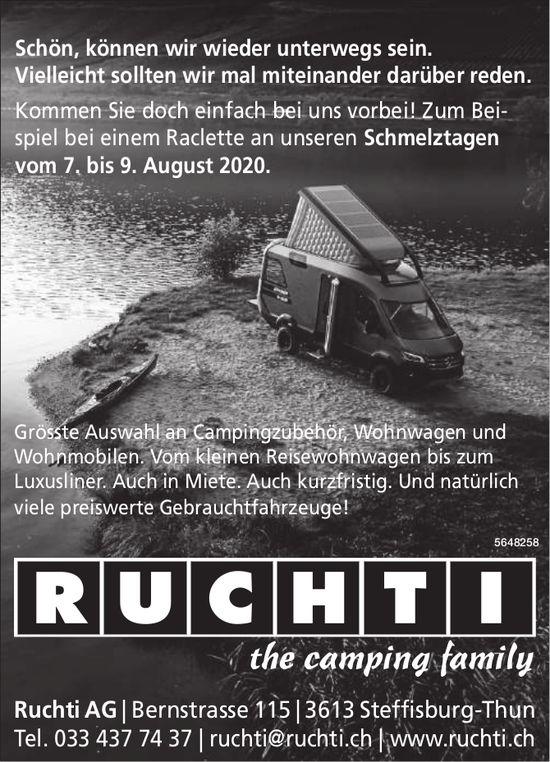 Ruchti AG, Steffisburg - Raclette an unseren Schmelztagen vom 7. bis 9. August 2020.