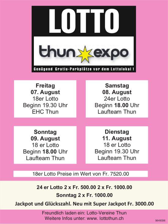 Lotto Thun Expo, 7./8./9./11. August
