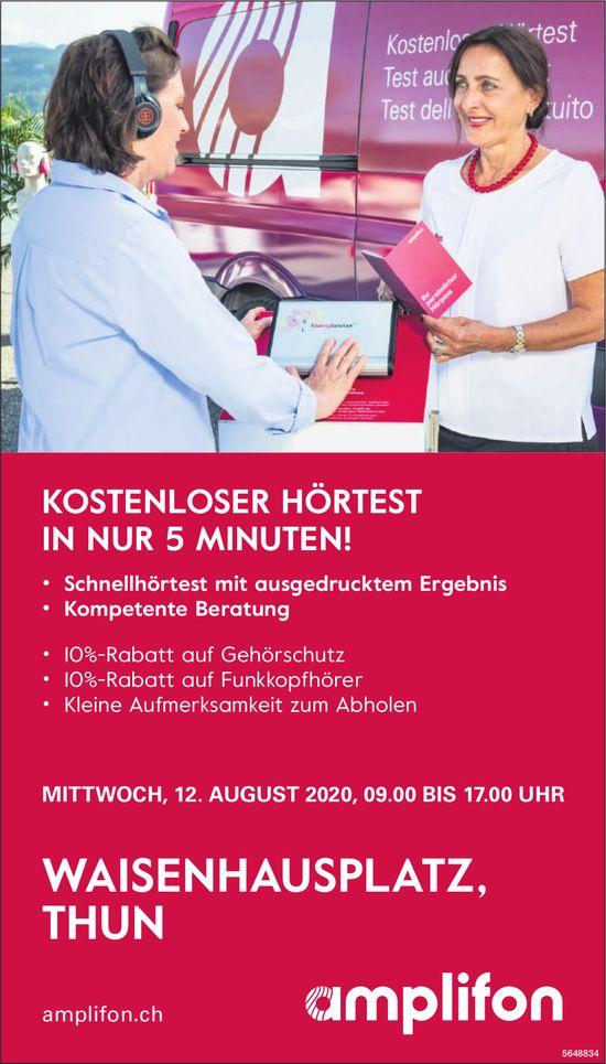 Amplifon - Kostenloser Hörtest in nur 5 Minuten! 12. August, Thun