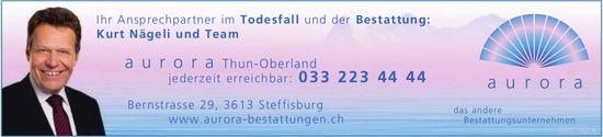 Aurora Thun-Oberland, Steffisburg - Ihr Ansprechpartner im Todesfall und der Bestattung