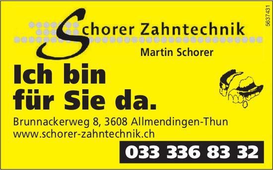 Schorer Zahntechnik, Martin Schorer, Allmendingen-Thun - Ich bin für Sie da.