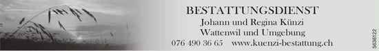 Johann und Regina Künzi, Wattenwil und Umgebung - Bestattungsdienst