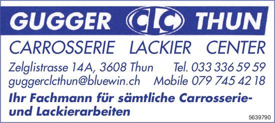 Gugger CLC Thun - Ihr Fachmann für sämtliche Carrosserie- und Lackierarbeiten