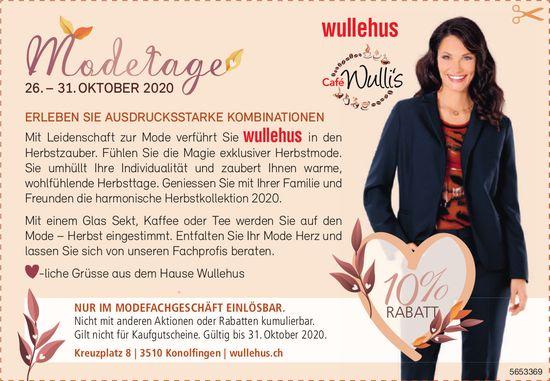 Modetage, 26. - 31. Oktober, Wullehus, Konolfingen