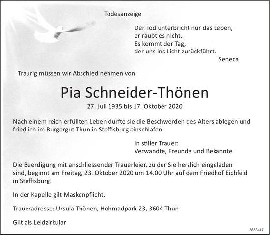 Schneider-Thönen Pia, Oktober 2020 / TA