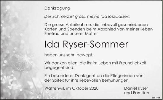 Ryser-Sommer Ida, im Oktober 2020 / DS